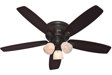 "Hunter 23898 52"" Low Profile IV Plus Ceiling Fan in Provencial Gold"