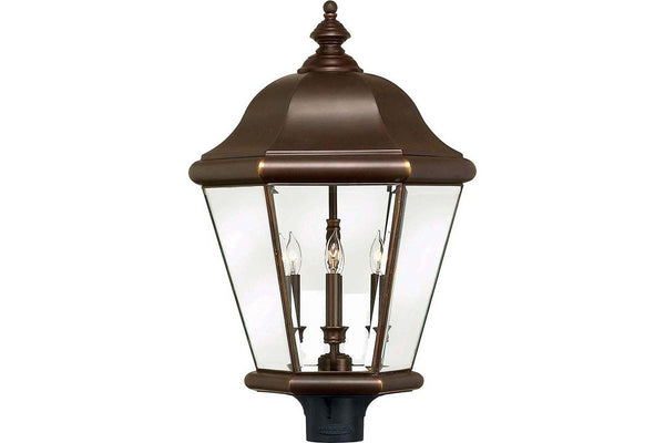 Hinkley 2407CB Clifton Park Outdoor Post Lighting in Copper Bronze with Clear Beveled and Bound Glass