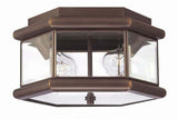 Hinkley 2429CB Clifton Park Outdoor Ceiling Lighting in Copper Bronze with Clear Beveled and Bound Glass