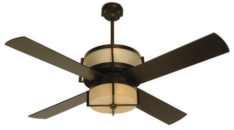 "Craftmade Midoro MO56OB4 56"" Ceiling Fan with Blades Included in Oiled Bronze"