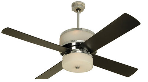 "Craftmade Midoro MO56CH4 56"" Ceiling Fan with Blades Included in Chrome"