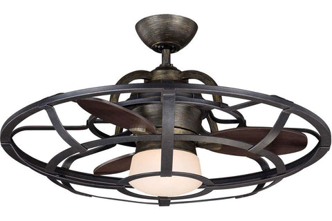 "Savoy House 26-9536-FD-196 26"" Alsace in Reclaimed Wood with Chestnut Blades Damp Rated Outdoor Ceiling Fan"