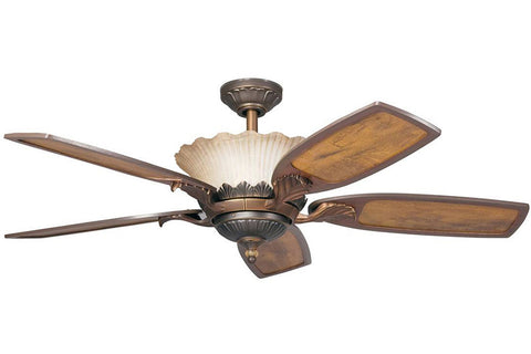 "Kichler 300000OLZ 52"" Golden Iridescence Ceiling Fan in Oiled Bronze"