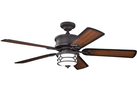 "Kichler 300001DBK 52"" Chicago Ceiling Fan in Distressed Black"