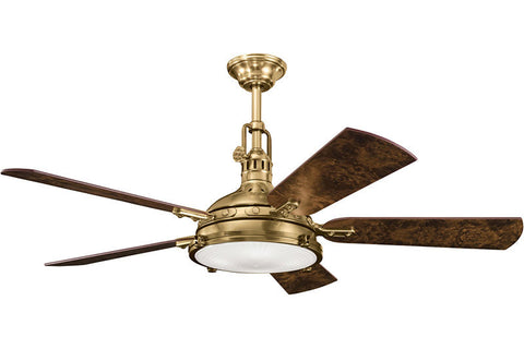 "Kichler - 300018BAB - 56"" Ceiling Fan - Hatteras Bay - Burnished Antique Brass"