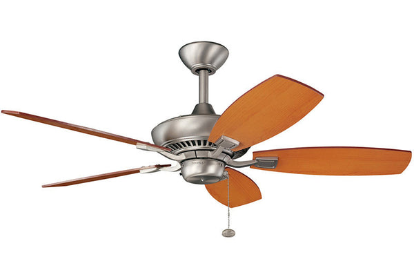 "Kichler - 300107NI - 44"" Ceiling Fan - Canfield - Brushed Nickel"