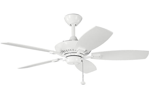 "Kichler - 300107WH - 44"" Ceiling Fan - Canfield - White"