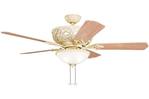 "Kichler - 300113AW - 52"" Ceiling Fan - Cortez - Aged White"