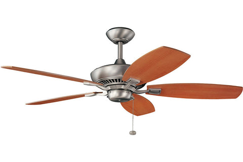 "Kichler - 300117NI - 52"" Ceiling Fan - Canfield - Brushed Nickel"