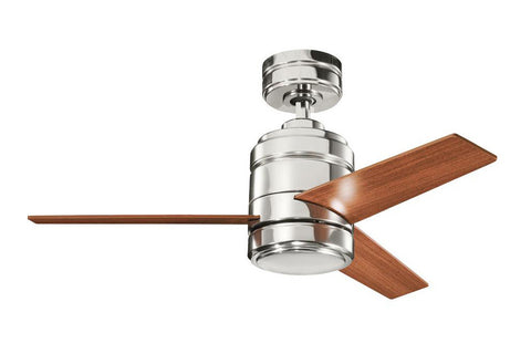 "Kichler 300146PN-370025PN 38"" Arkwright Ceiling Fan in Polished Nickel"
