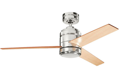 "Kichler 300146PN-370026PN 48"" Arkwright Ceiling Fan in Polished Nickel"