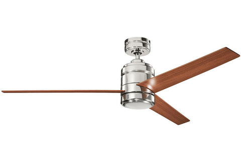 "Kichler 300146PN-370027PN 58"" Arkwright Ceiling Fan in Polished Nickel"