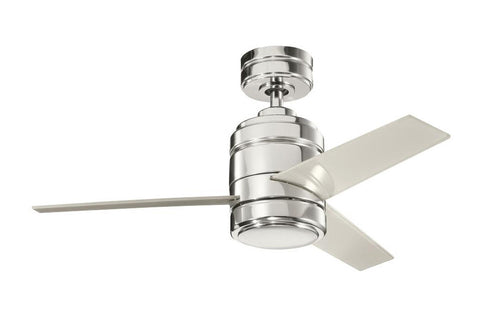 "Kichler 300146PN-370028PN 38"" Arkwright Ceiling Fan in Polished Nickel"