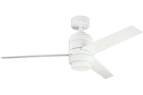 "Kichler 300146WH-370029WH-380046WH 48"" Arkwright Ceiling Fan in White Powder Coat"
