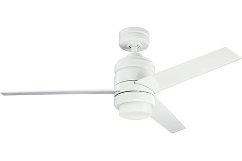 "Kichler 300146WH-370030WH-380046WH 58"" Arkwright Ceiling Fan in White Powder Coat"