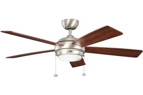 Kichler - 300173NI - 52``Ceiling Fan - Starkk - Brushed Nickel