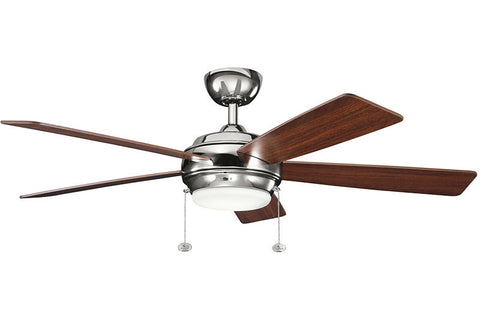 "Kichler - 300173PN - 52"" Ceiling Fan - Starkk - Polished Nickel"