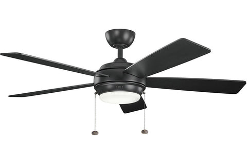 "Kichler - 300173SBK - 52"" Ceiling Fan - Starkk - Satin Black"