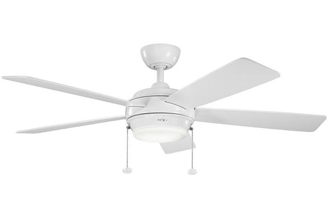 Kichler - 300173WH - 52``Ceiling Fan - Starkk - White