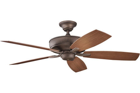 Kichler - 310103WCP - 52``Ceiling Fan - Monarch II Patio - Weathered Copper Powder Coat