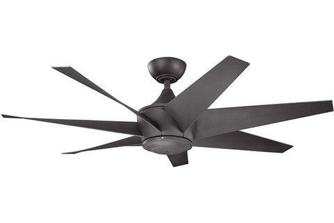 Kichler - 310112DBK - 54``Ceiling Fan - Lehr II - Distressed Black