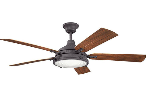 Kichler - 310117DBK - 60``Ceiling Fan - Hatteras Bay Patio - Distressed Black