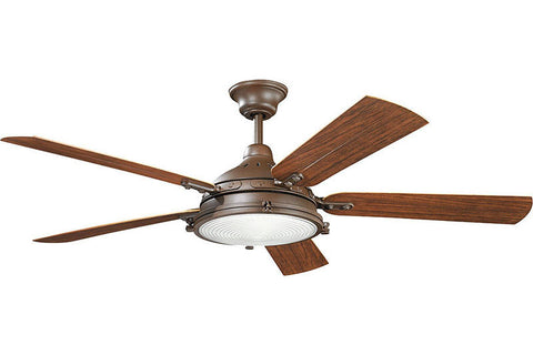 Kichler - 310117TZP - 60``Ceiling Fan - Hatteras Bay Patio - Tannery Bronze Powder Coat