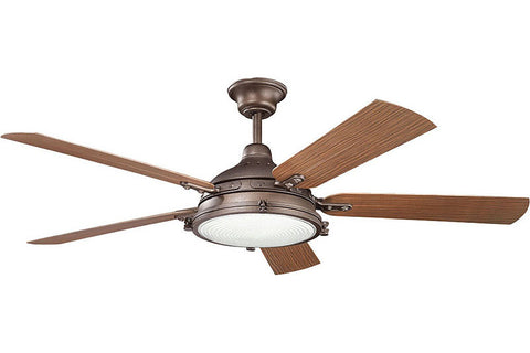 Kichler - 310117WCP - 60``Ceiling Fan - Hatteras Bay Patio - Weathered Copper Powder Coat