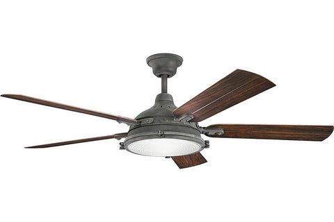 Kichler - 310117WZC - 60``Ceiling Fan - Hatteras Bay Patio - Weathered Zinc