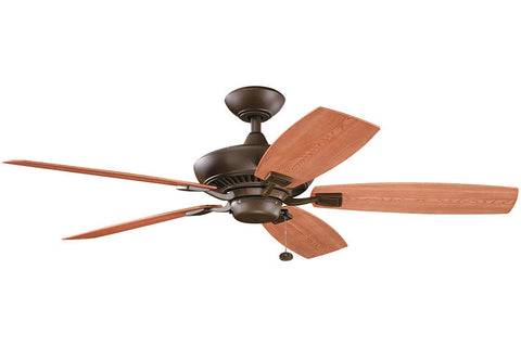 Kichler - 310192TZP - 52``Ceiling Fan - Canfield Patio - Tannery Bronze Powder Coat