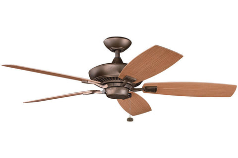 Kichler - 310192WCP - 52``Ceiling Fan - Canfield Patio - Weathered Copper Powder Coat