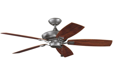 Kichler - 310192WSP - 52``Ceiling Fan - Canfield Patio - Weathered Steel Powder Coat