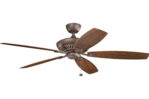 "Kichler - 310193TZP - 60"" Ceiling Fan - Canfield - Tannery Bronze Powder Coat"