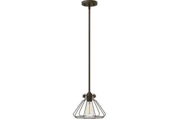 Hinkley 3110OZ Congress Mini Cone Pendant in Oil Rubbed Bronze with Metal