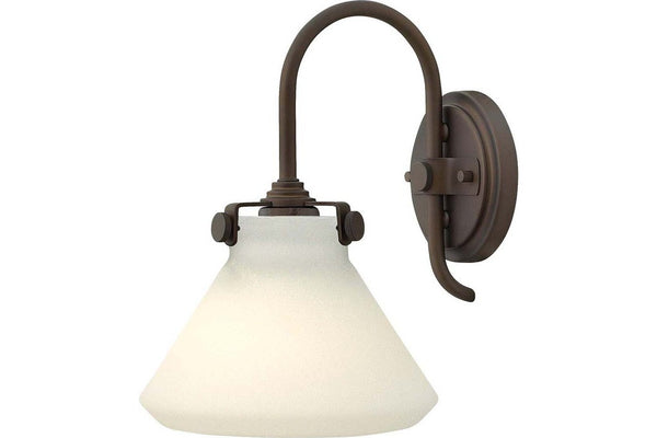 Hinkley 3170OZ Congress Glass Wall Sconce Lighting in Oil Rubbed Bronze with Etched Opal Glass