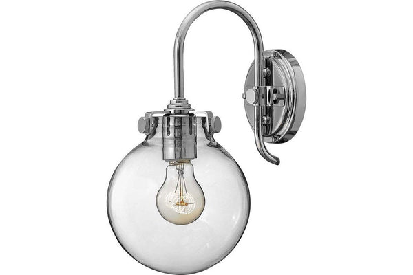 Hinkley 3174CM Congress Glass Wall Sconce Lighting in Chrome with Etched Opal Glass