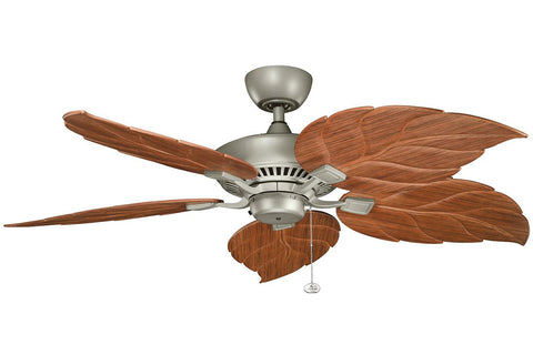 "Kichler 320500ANS-370022 52"" Canfield Climates Ceiling Fan in Antique Satin Silver"