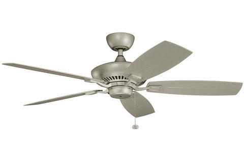 "Kichler 320500ANS-371010 52"" Canfield Climates Ceiling Fan in Antique Satin Silver"