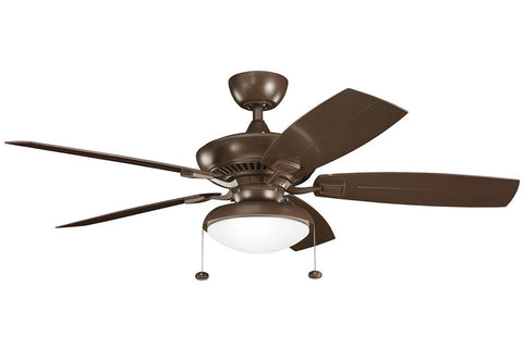 "Kichler 320500CMO-371010-380910CMO 52"" Canfield Climates Ceiling Fan in Coffee Mocha"