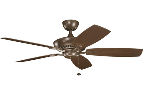 "Kichler 320500CMO-371010 52"" Canfield Climates Ceiling Fan in Coffee Mocha"