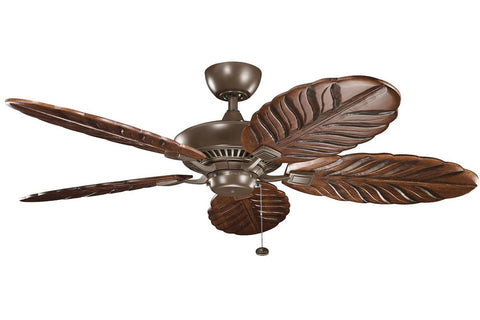 "Kichler 320500CMO-371101 56"" Canfield Climates Ceiling Fan in Coffee Mocha"