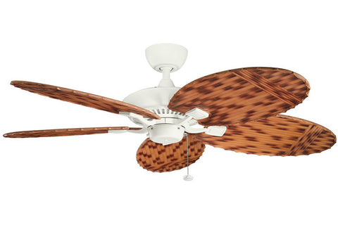 "Kichler 320500SNW-370019 52"" Canfield Climates Ceiling Fan in Satin Natural White"
