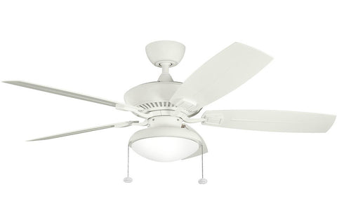 "Kichler 320500SNW-371010-380910SNW 52"" Canfield Climates Ceiling Fan in Satin Natural White"