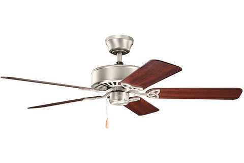 "Kichler - 330100NI - 50"" Ceiling Fan - Renew ES - Brushed Nickel"
