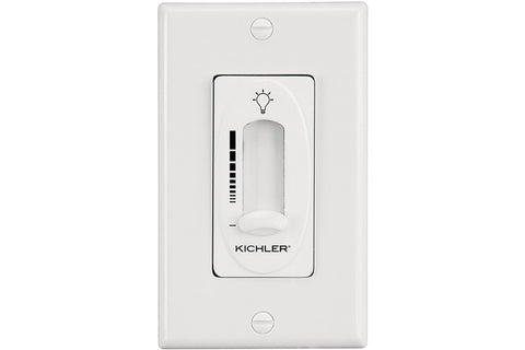 Kichler 337011WH Fan Light Dimmer Control in White