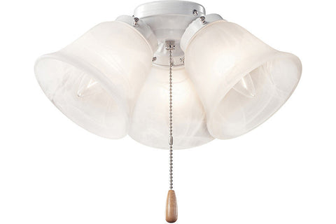 Kichler 338505WH Three Light Turtle Fixture in White