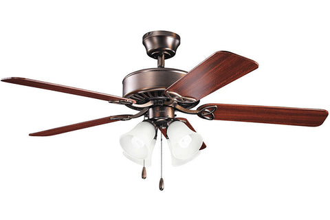 "Kichler 339240OBB 50"" Renew Premier Fan in Oil Brushed Bronze"