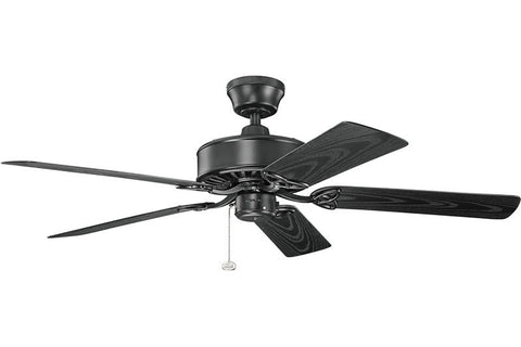 Kichler - 339515SBK - 52``Ceiling Fan - Renew Patio - Satin Black