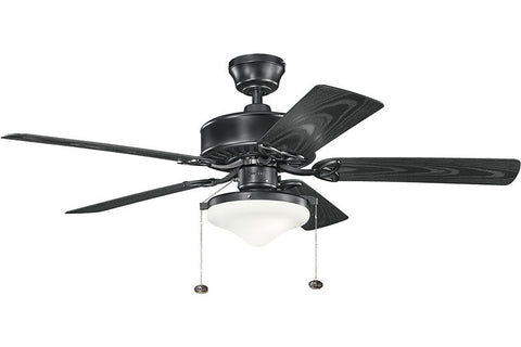 Kichler - 339516SBK - 52``Ceiling Fan - Renew Select Patio - Satin Black