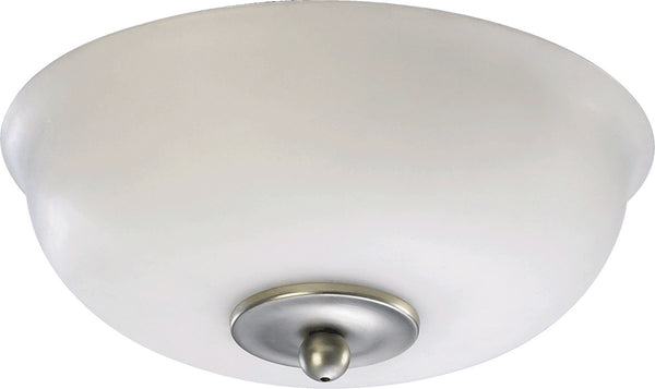 Quorum Two Light Fan Light Kit from the Light Kits Satin Nickel collection in Satin Nickel finish